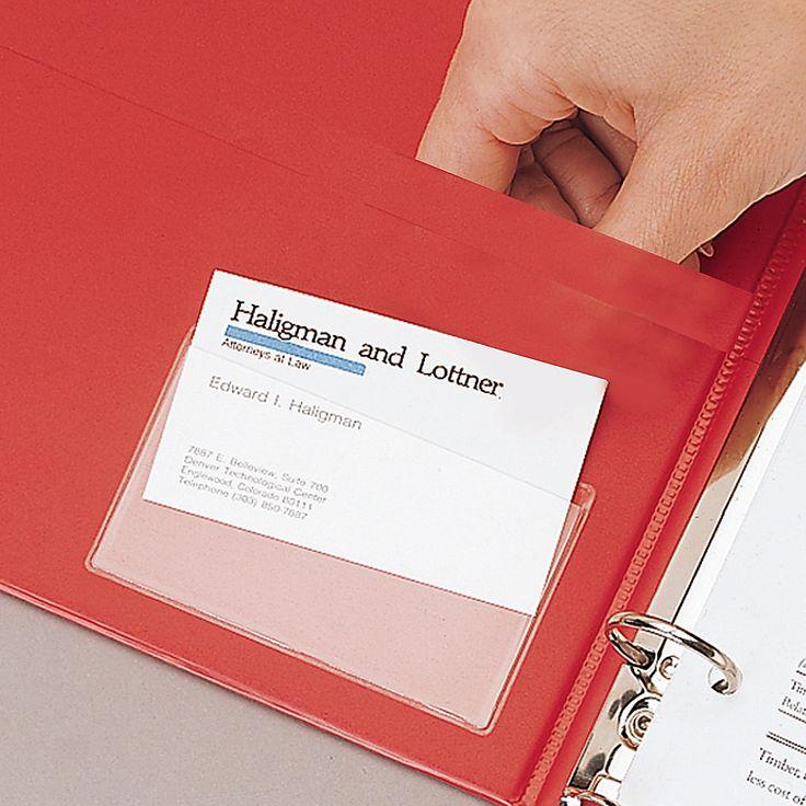 Cardinal holdit business card pockets side loading 3