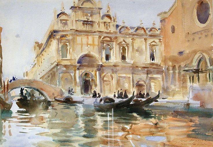 John Singer Sargent | John Singer Sargent, Rio dei Mendicanti, Venice, about 1909.