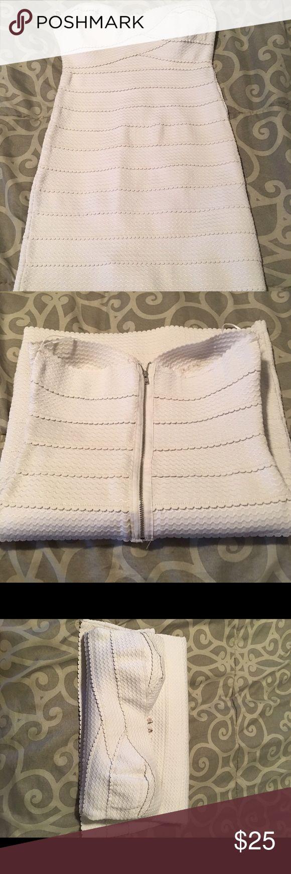 White bandage dress Bandage dress Dresses Mini