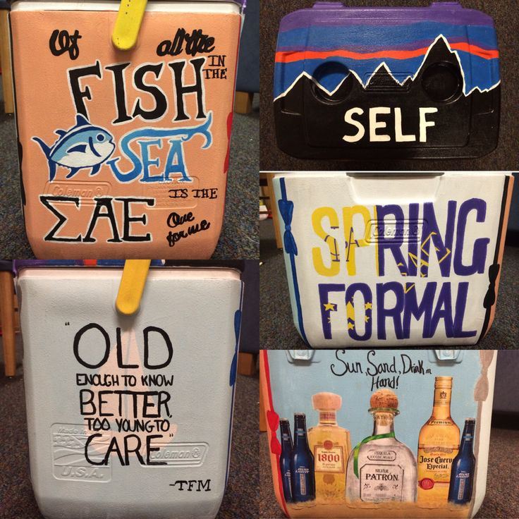 Self is the last name haha. Formal cooler for sigma alpha epsilon!