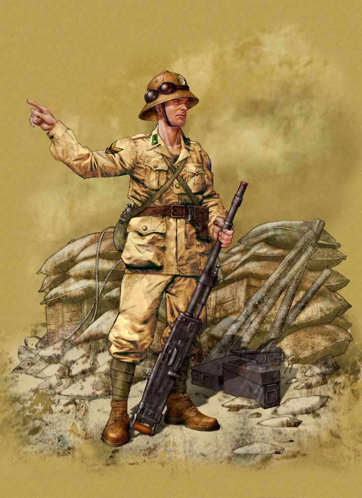 Machinegunner 'Pavia Regiment 28th Infantry Division, the Alamein 1942.