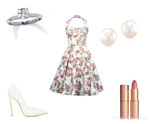 """""""Date[1]"""" by agentpalmer on Polyvore featuring Casadei and Charlotte Tilbury"""