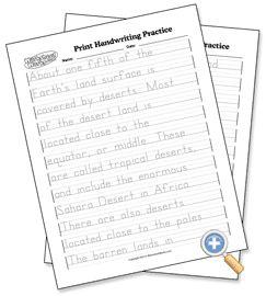 FREE Customizable Print and Cursive Handwriting Practice - WorksheetWorks.com