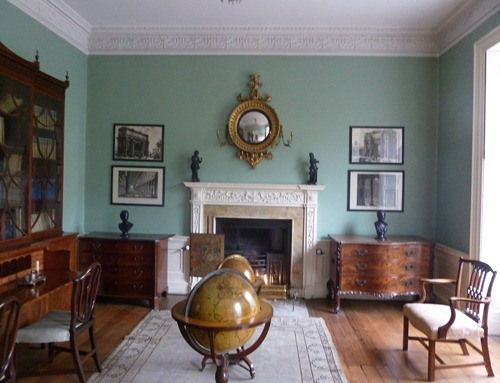 "Drawing room: The first floor of Georgian houses, or ""piano nobile"" was usually used for entertainment, and this was the case with the Bristol house."