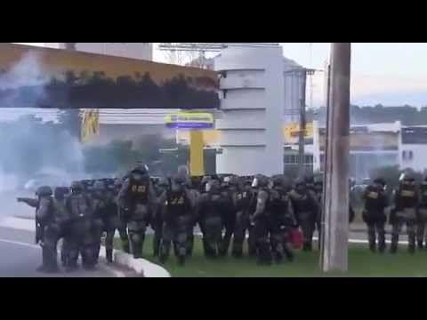 APOIO DO POVO AOS CAMINHONEIROS BOTAM A FORÇA NACIONAL PRA CORRER !!!