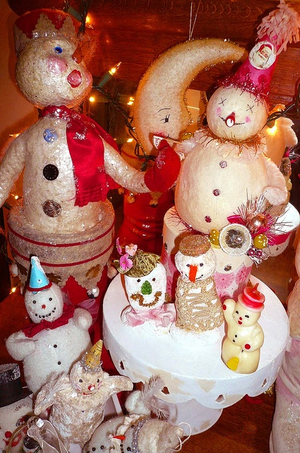 collection of vintage christmas...I love vintage and I love snowmen..what a great pair!