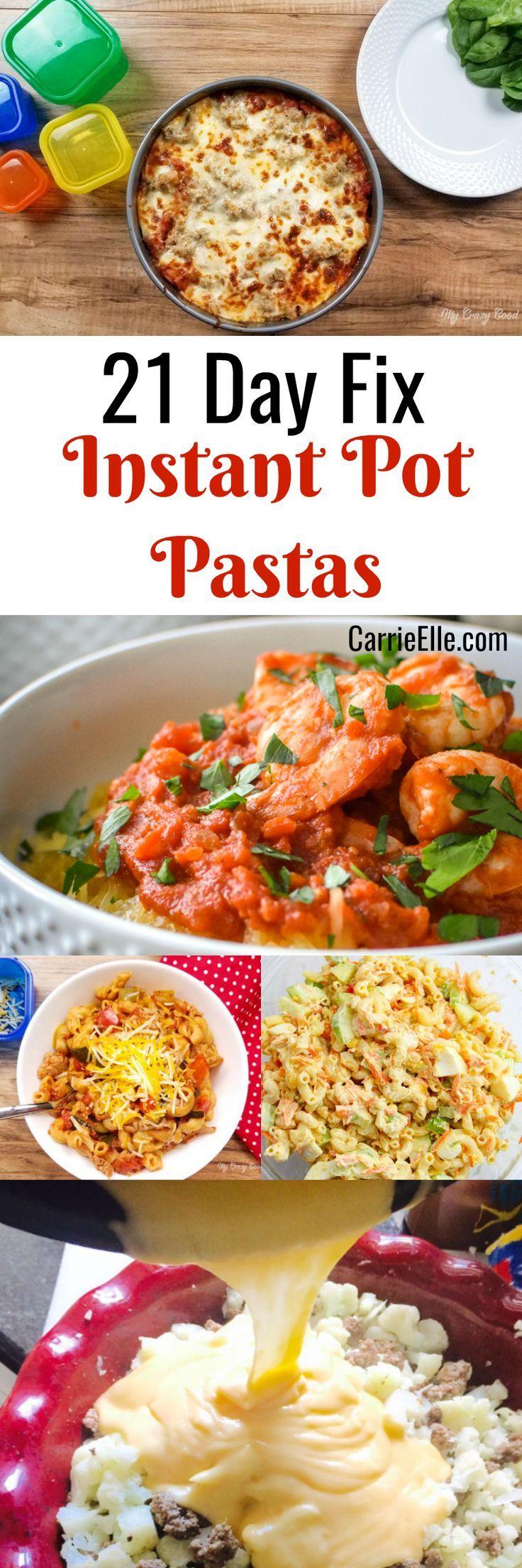 21 Day Fix Instant Pot Pasta Recipes
