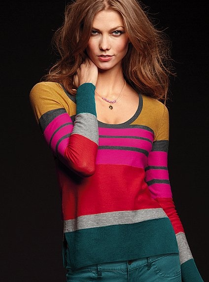 Cotton Sweater Tee. Wow. Much too much. Colors don't really work together in my opinion.