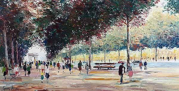 GEORGE HANN (British 1900-1979) Champs Elysees