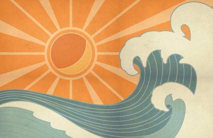 Vintage Surf Wallpaper Mural Muralswallpaper Retro Painting