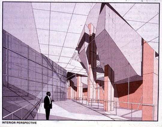 Drawing by Peter Eisenman for the Carnegie Mellon Technology Center, 1987