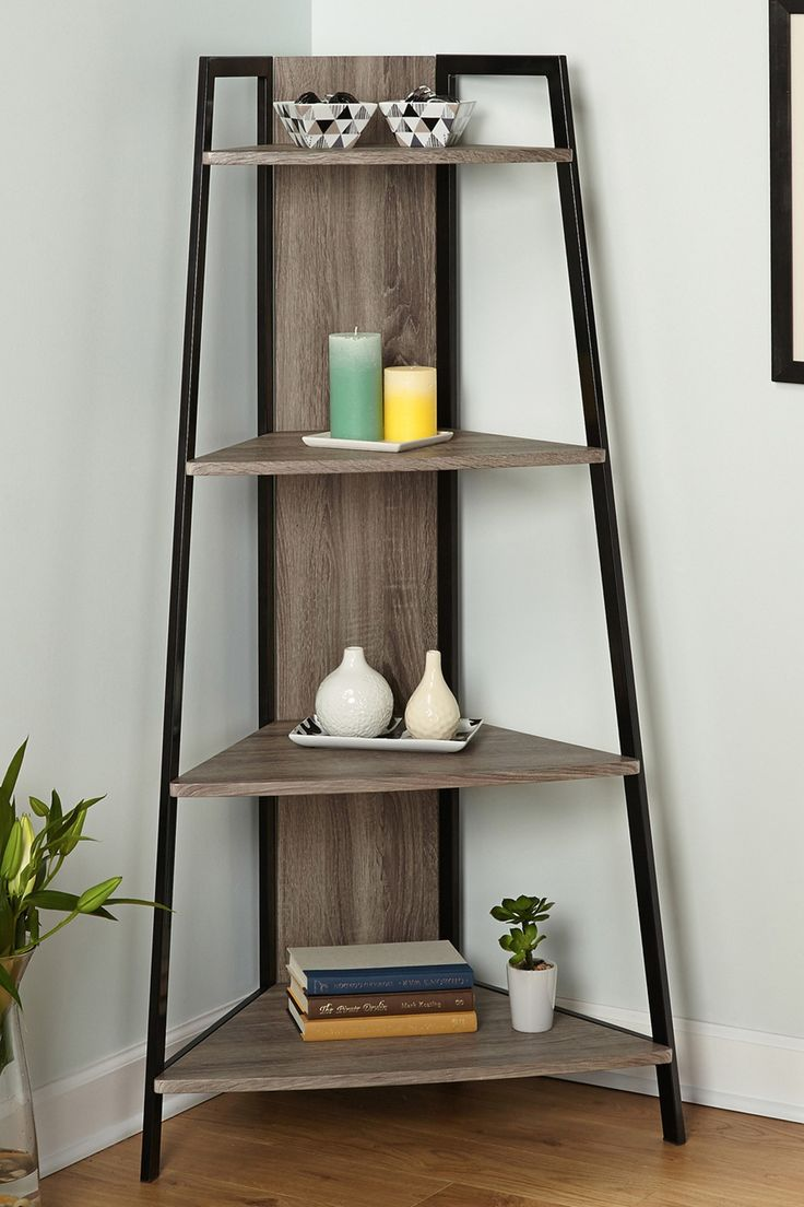 Seneca Black Gray Corner Shelf On Hautelook Apartment