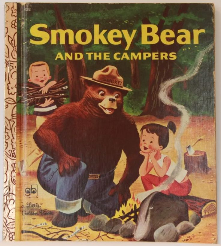 Little Golden Books Smokey Bear and The Campers Vintage Children's Book LGB | eBay