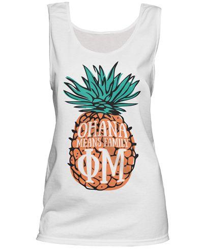 So cute.  Pineapple shirt for Phi Mu. #phimu #sororitytshirt #biddaytshirt
