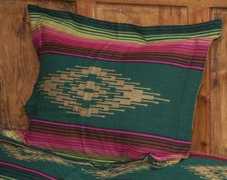 Southwestern Bedding Sham 24x28 -Saltillo Green (s7030b)
