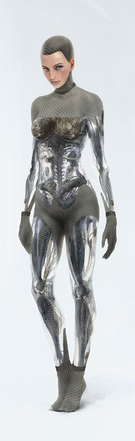 CGI design of Ava by Karl Simon for Ex Machina