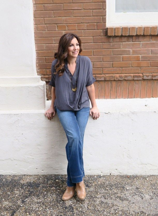 Channeling My Inner Joanna Gaines With Wide Leg Jeans Look Great With Birkentocks Boots Wedges And He Influencers Fashion Autumn Fashion 2018 Wide Leg Jeans