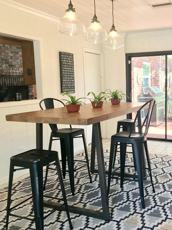Pin By Jolene Martin On Kitchen Ideas Bar Height Dining Table Kitchen Keeping Room Dining Table