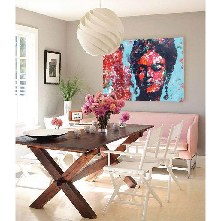 Incertidumbre Cuadro de Frida Kahlo - 100 cm x 80 cm