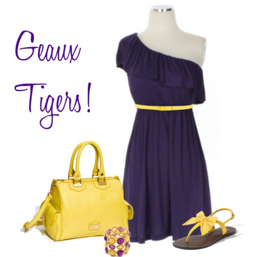LSU game day gorg! #dress #goldandpurple