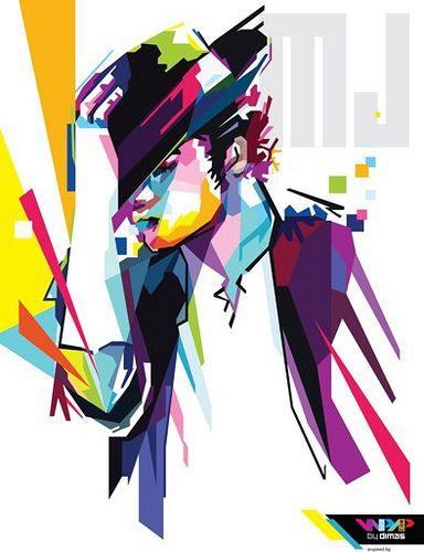 michael jackson in pop art portrait