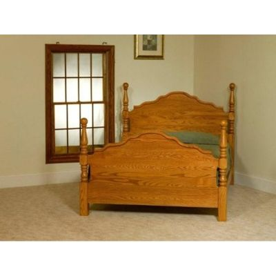 Heirloom Cathedral Bed Crown Villa Furniture Made in USA available at Amish Oak and Cherry