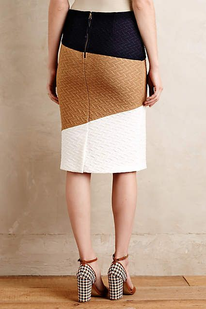 Genevieve Textured Pencil Skirt - anthropologie.com