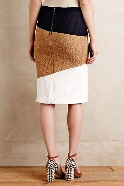 Genevieve Textured Pencil Skirt - anthropologie.com