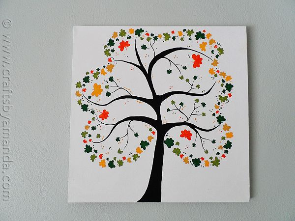 Shamrock Tree on Canvas