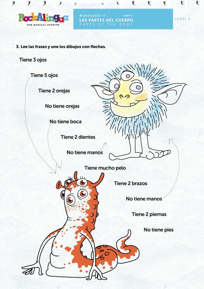 Descripciones de monstruos! www.rockalingua.com