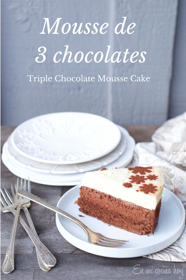 Torta de 3 capas de mousse de chocolate. Perfecta para cumpleaños en verano.