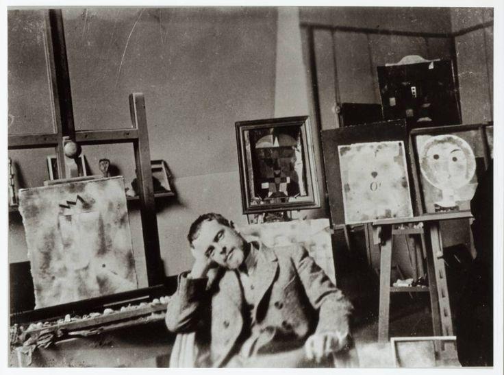 Paul Klee in his studio, c. 1920