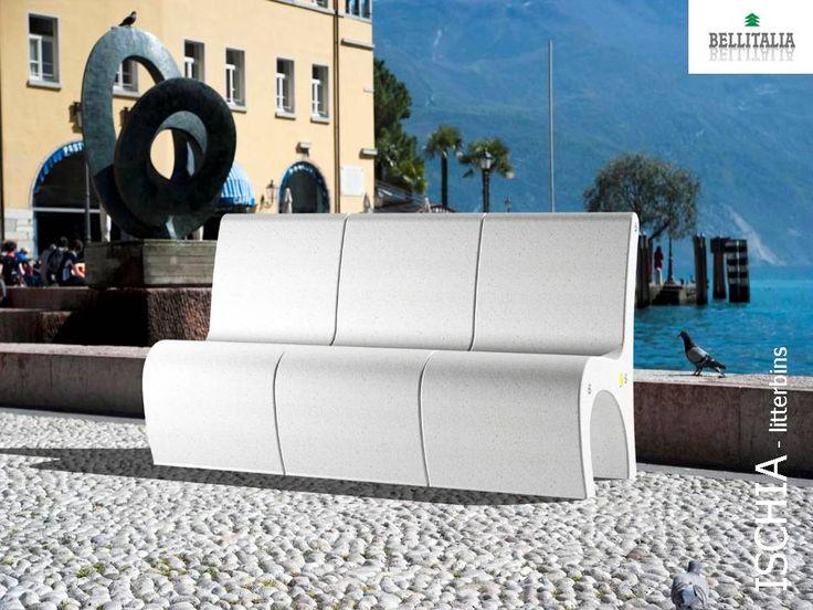 Gea seats #concrete #marble #Bellitalia arredo urbano - street furniture