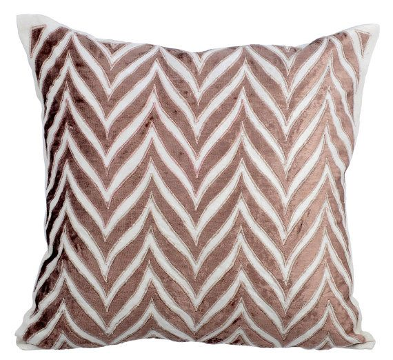 designer throw pillows cover 16x16 ivory silk by thehomecentric - Designer Throw Pillow