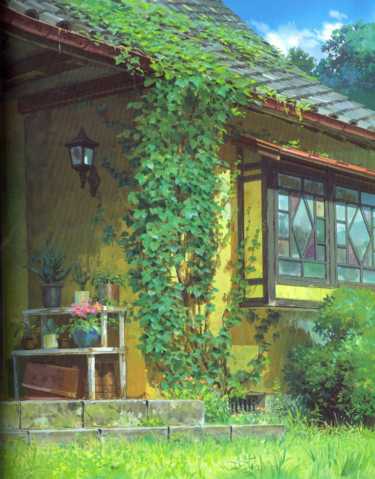 """""""The Borrower Arrietty 借りぐらしのアリエッティ"""" Backgroud Art 