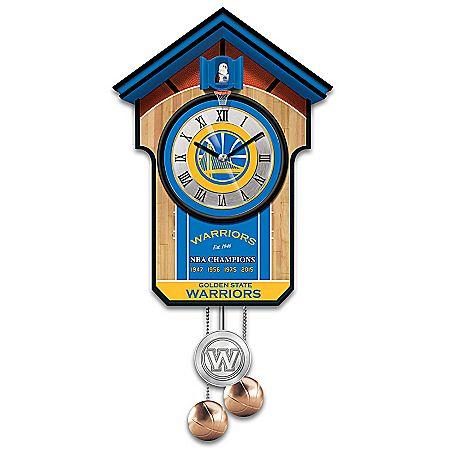Golden State Warriors NBA Cuckoo Clock