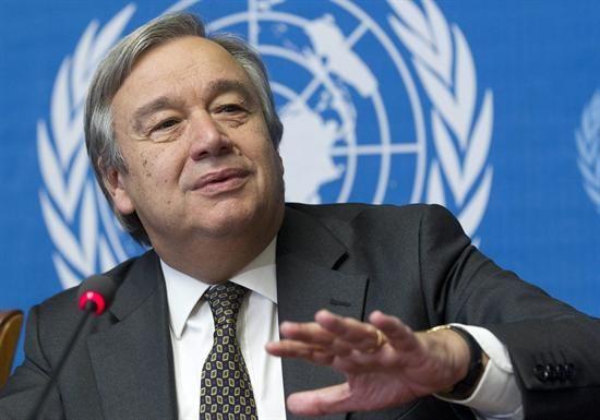 Exprimer ministro de Portugal a un paso de la Secretaría de la ONU