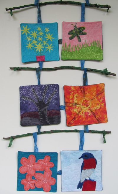 Textile Art - Hands and Harts ~Janelle Marks
