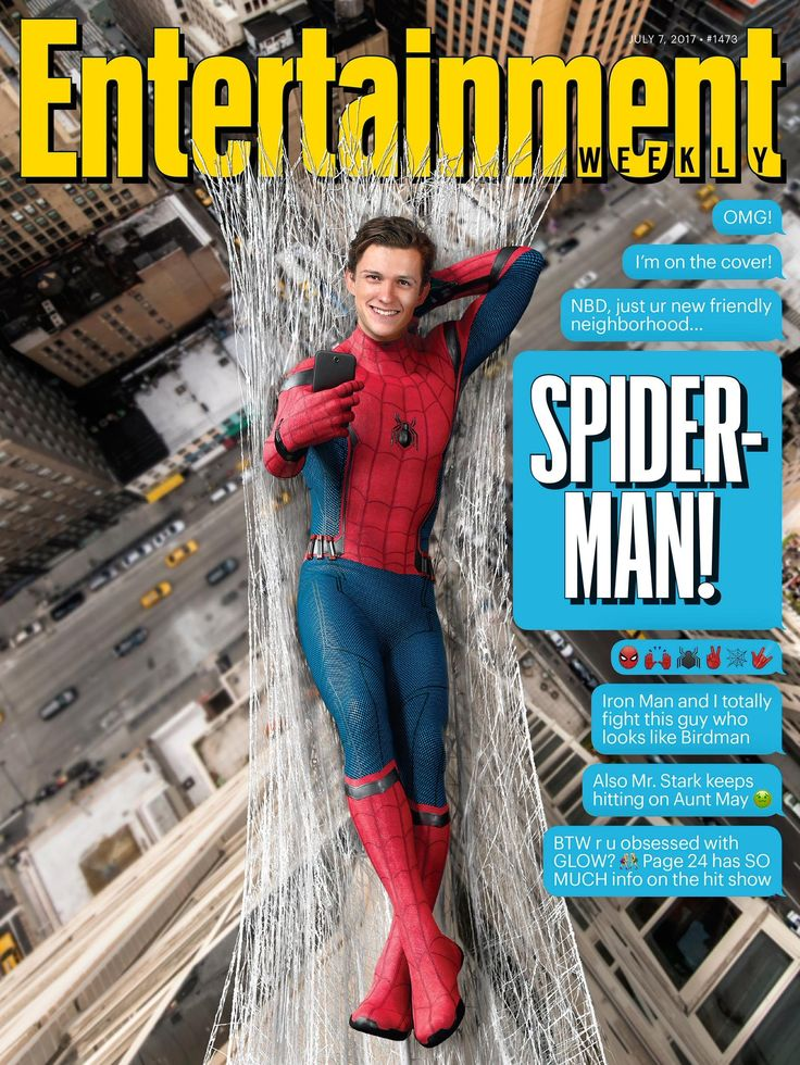 Spidey on the cover of Entertainment Weekly