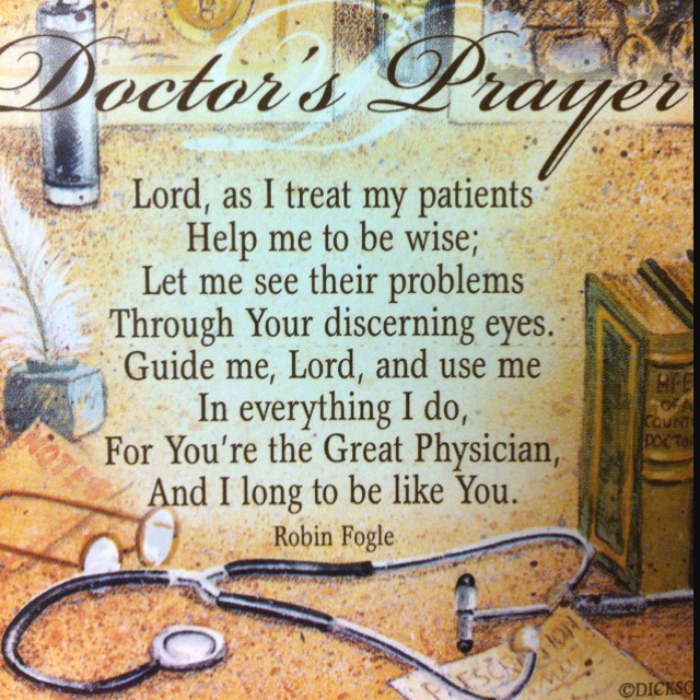 You're the Great Physician, and I long to be like You