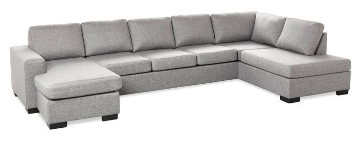 Produktbild - Nevada, 4-sits soffa med schäslong vänster och divan höger