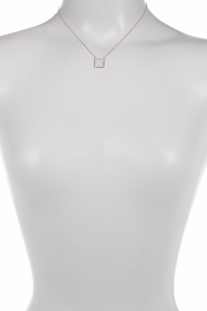 Argento Vivo Silver 'C' Cubic Zirconia Initial Pendant Necklace $78 #ArgentoVivo #Pendant