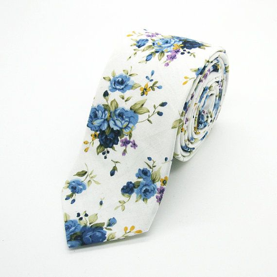Hey, I found this really awesome Etsy listing at https://www.etsy.com/listing/189555456/white-and-blue-small-floral-tie-necktie