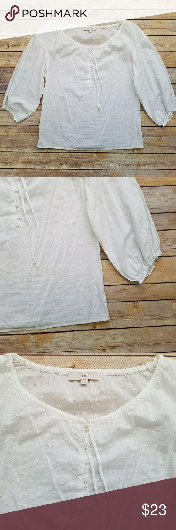 I just added this listing on Poshmark: Loft white peasant blouse. #shopmycloset #poshmark #fashion #shopping #style #forsale #LOFT #Tops
