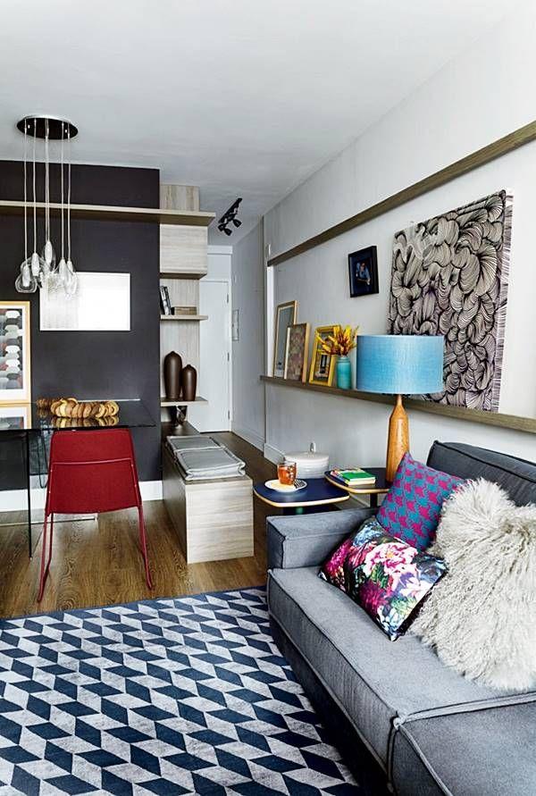 Com tanta estampa bonita, a maioria prefere usar tapetes de uma cor só. A preocupação é com a dificuldade de coordenar a decoração, a combinação de cores. Mas olha só, neste post,  como é possível, até para os que gostam de ambientes neutros, ter um tapete estampado super lindo na sua sala.