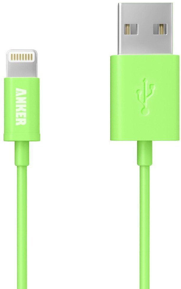 Anker Lightning To USB Cable 6ft / 1.8m Extra Long With Compact Connector Head [Apple MFi Certified] For IPhone, IPad And IPod (Green)
