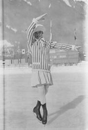 Sonja Henie at the 1924 Winter Olympics