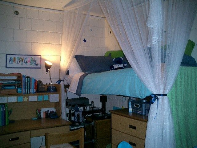 Create A Canopy Around Your Bed For More Privacy In A Dorm