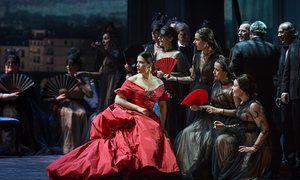 Dramatic punch … Coppola's La Traviata, with lush costumes by Valentino.