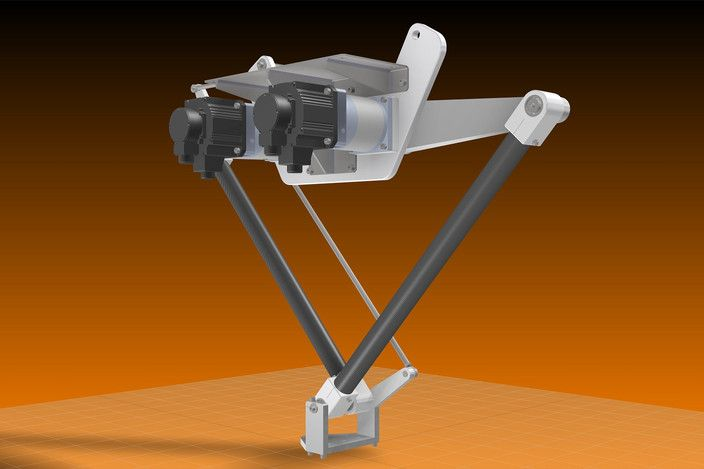 Two Axis Delta Robot - Other, STEP / IGES, Autodesk Inventor